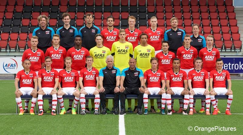 Jong AZ elftalfoto 2016-2017